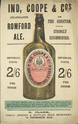 Advert For Ind, Coope & Co's Romford Ale 7200